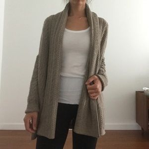 Vince shawl collar cable knit cardigan, S/P